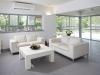 הסלון- עם סגירת המרפסת